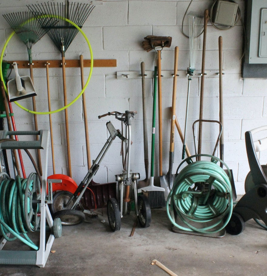 Large collection of lawn and garden tools ebth for Large garden equipment