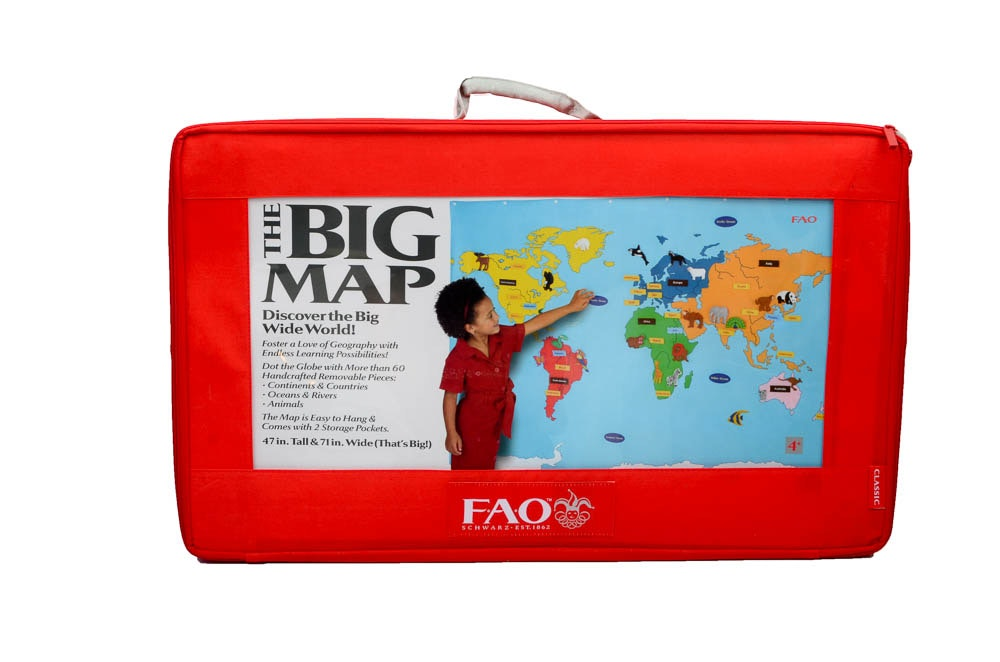 Fao Schwarz World Map.Fao Schwarz Big Map Of The World Ebth