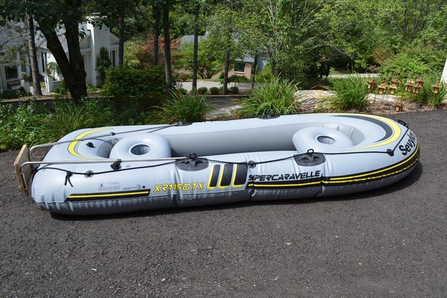 Sevylor Super Caravella Inflatable Six Person Boat Ebth