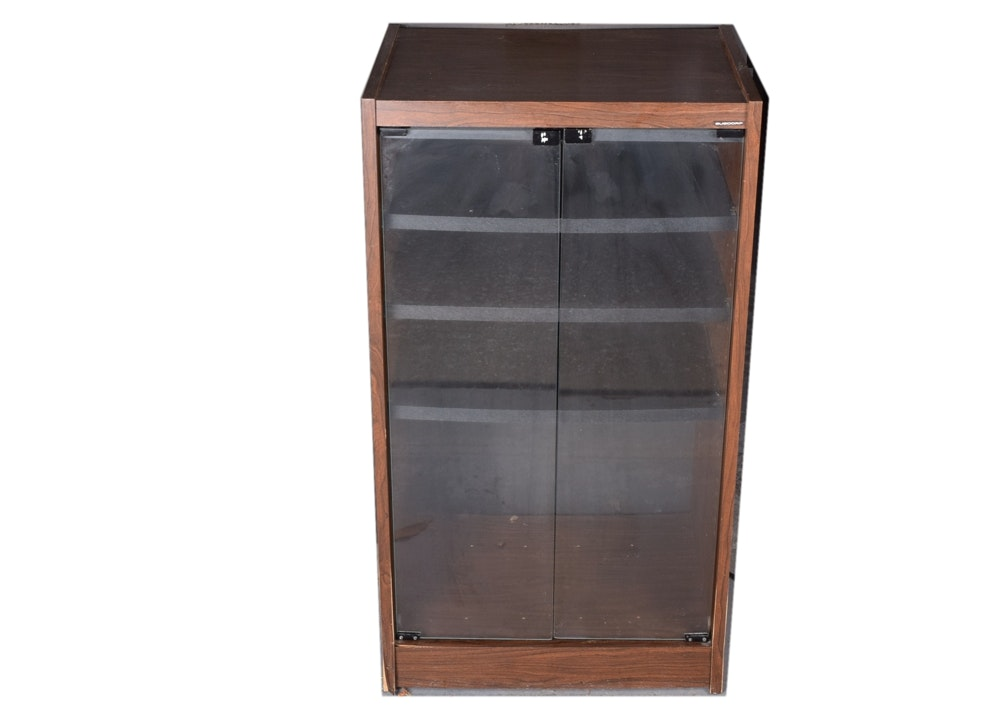 Glass Front Stereo Cabinet EBTH
