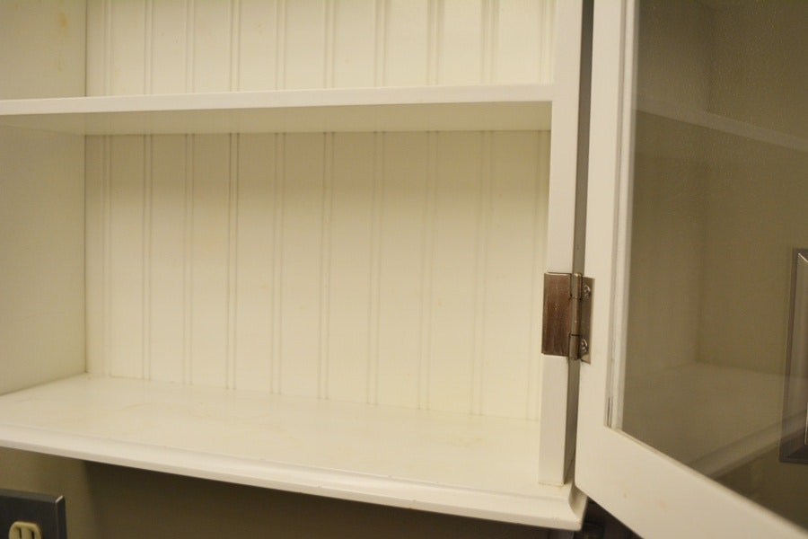 White beadboard cabinet ebth for Beadboard kitchen cabinets for sale