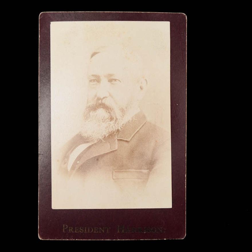 President Benjamin Harrison Carte De Visite