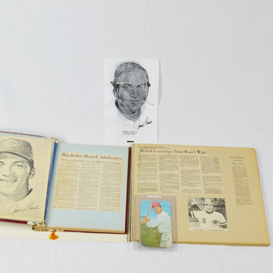 1970 Johnny Bench Topps Supercard Twp Johnny Bench Scrap Books Ebth