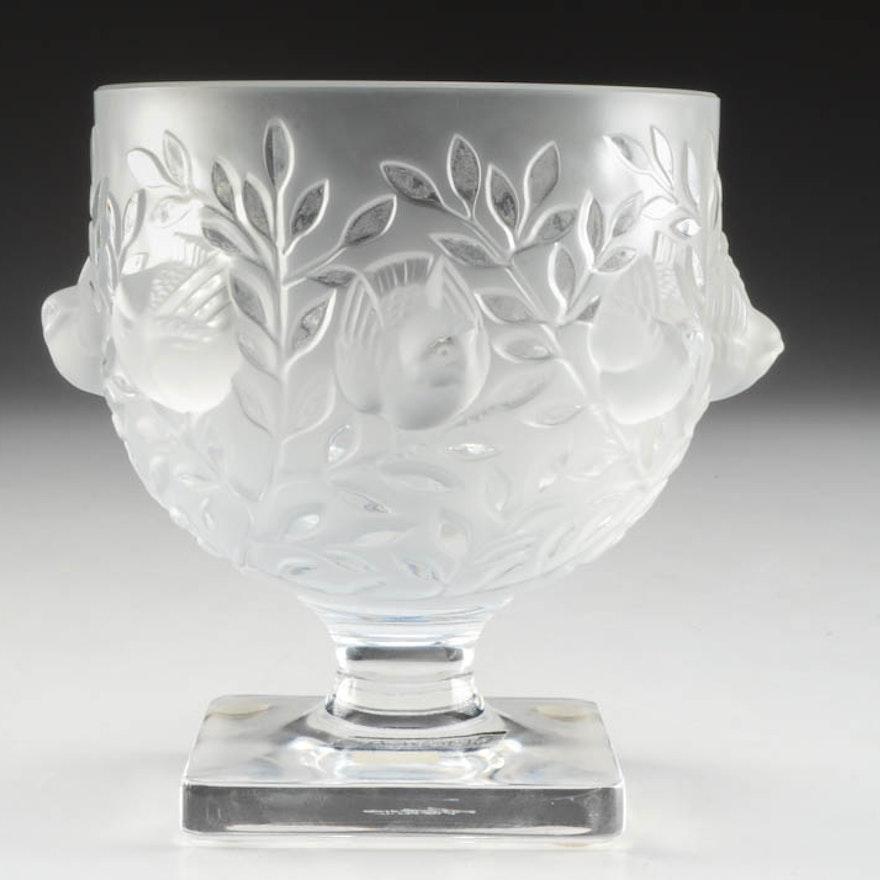 Lalique Elizabeth Pedestal Bowl Ebth