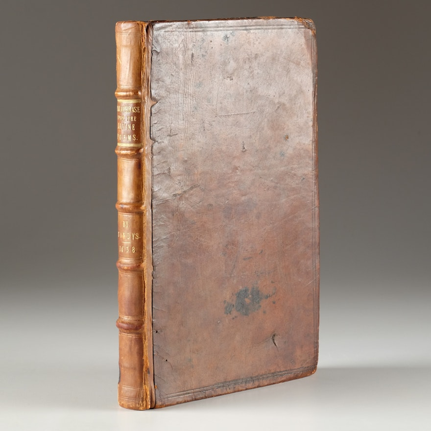 """Rare 1638 """"Paraphrase on the Divine Poems"""" by George Sandys"""