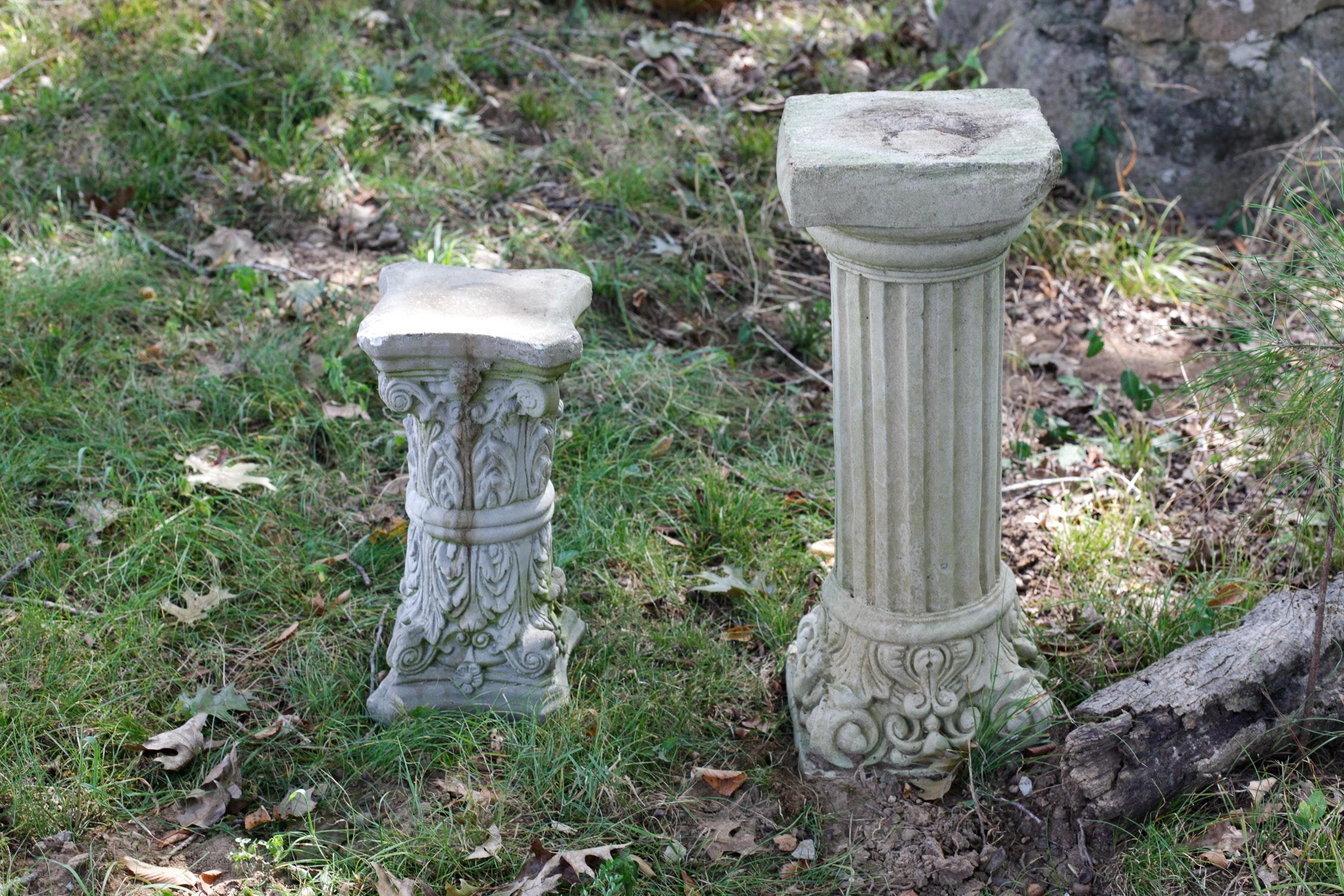 Concrete Garden Pillars EBTH