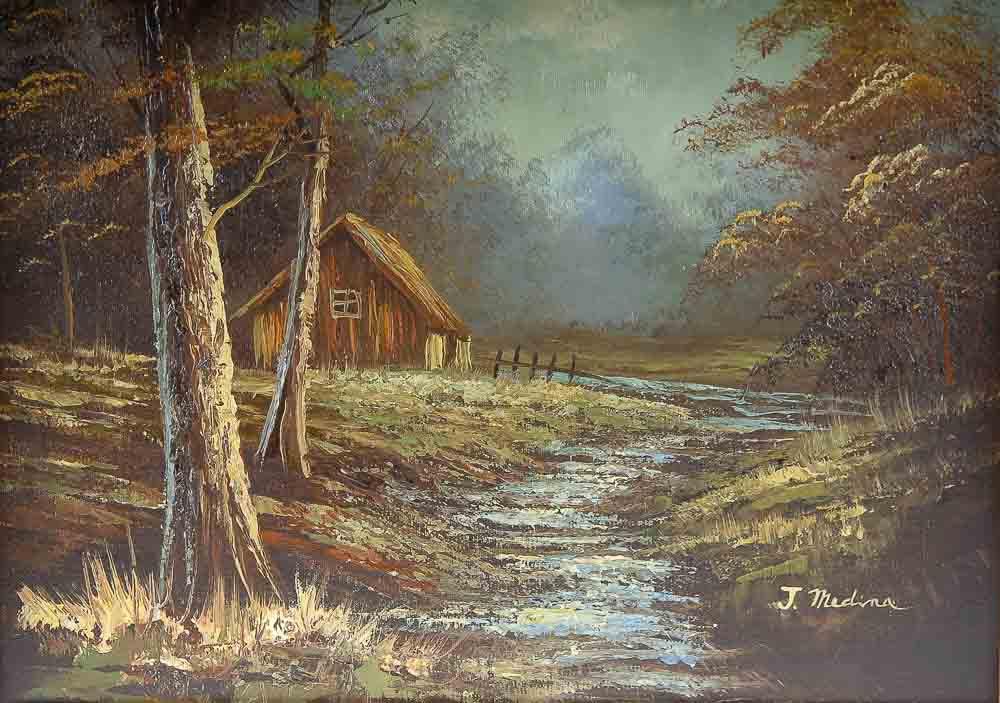 Original Oil Painting Signed J Medina Ebth