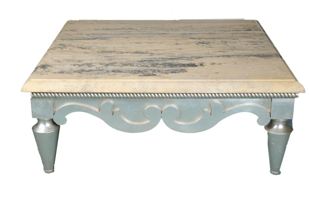 Square Marble Top Coffee Table ...
