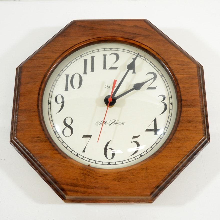 Seth Thomas Octagon Wall Clock Ebth