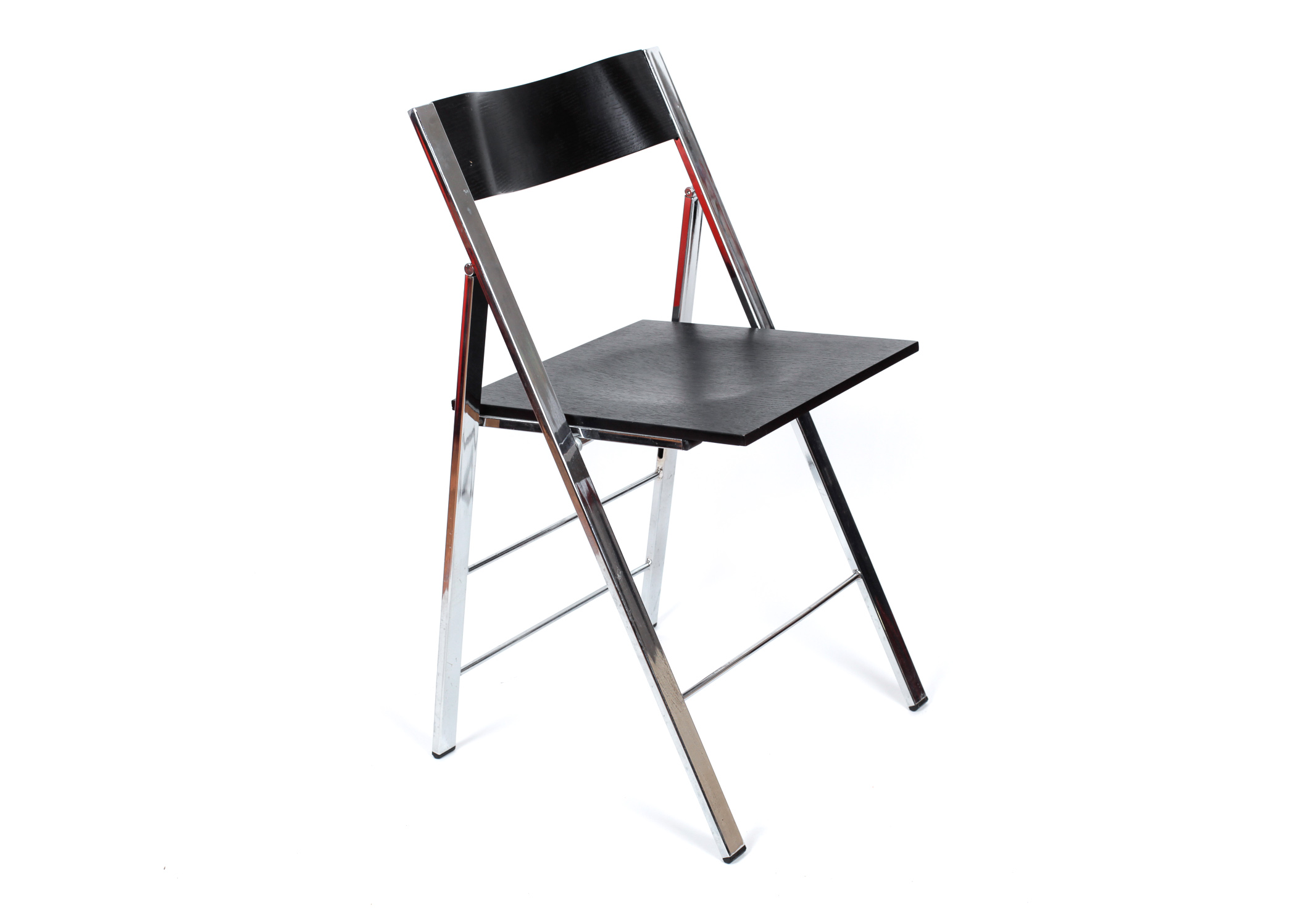 Wood and Chrome Folding Chair : EBTH