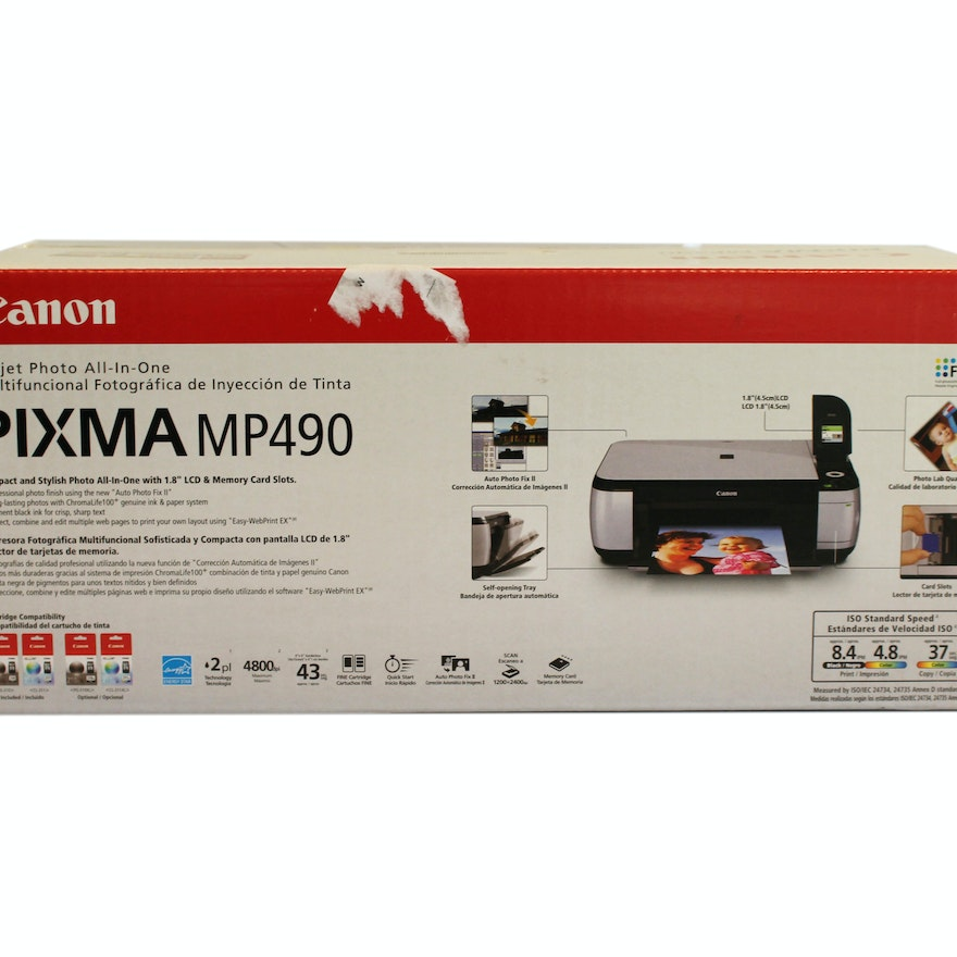 Canon Pixma Mp490 Inkjet All In One Photo Printer Ebth