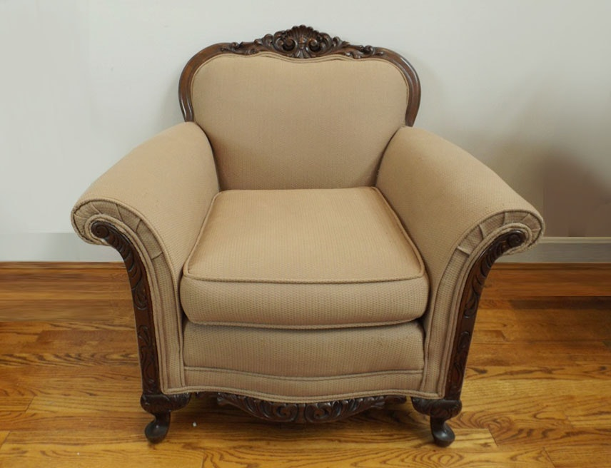 Victorian Style Upholstered Armchair   Vintage Chairs, Antique Chairs And  Retro Chairs Auction In Clifton