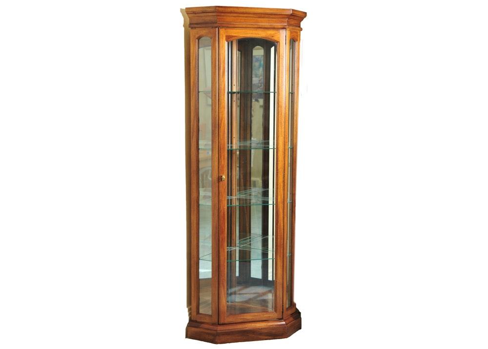 American Of Martinsville Corner Lighted Display Cabinet ...