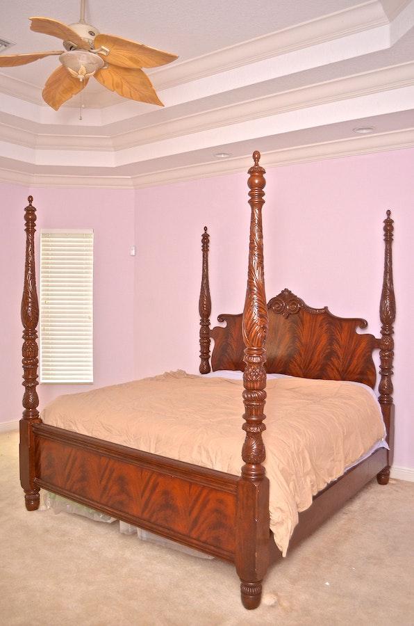 king size four poster bed ebth. Black Bedroom Furniture Sets. Home Design Ideas