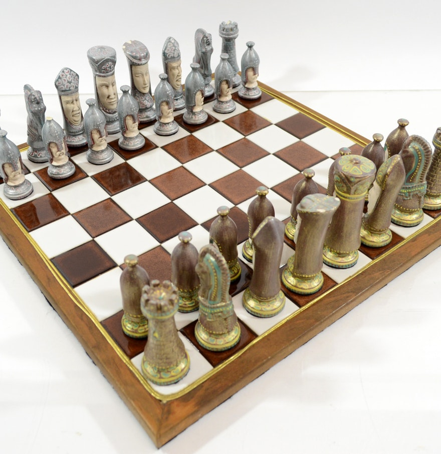 Decorative chess set ebth - Ornate chess sets ...