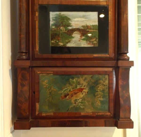 Antique Reverse Painting Up Menu For Sale