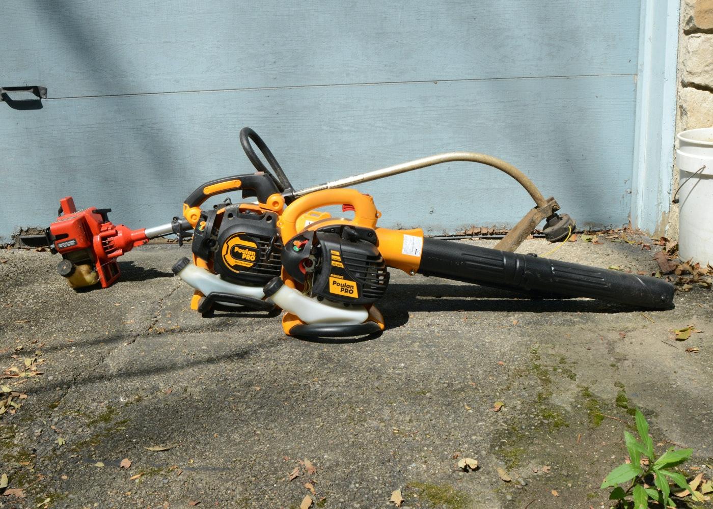Trio Of Outdoor Lawn Maintenance Tools  EBTH