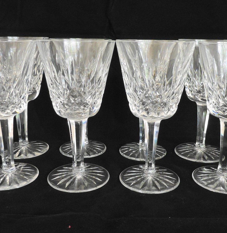 Waterford lismore crystal wine glasses ebth - Wedgwood crystal wine glasses ...