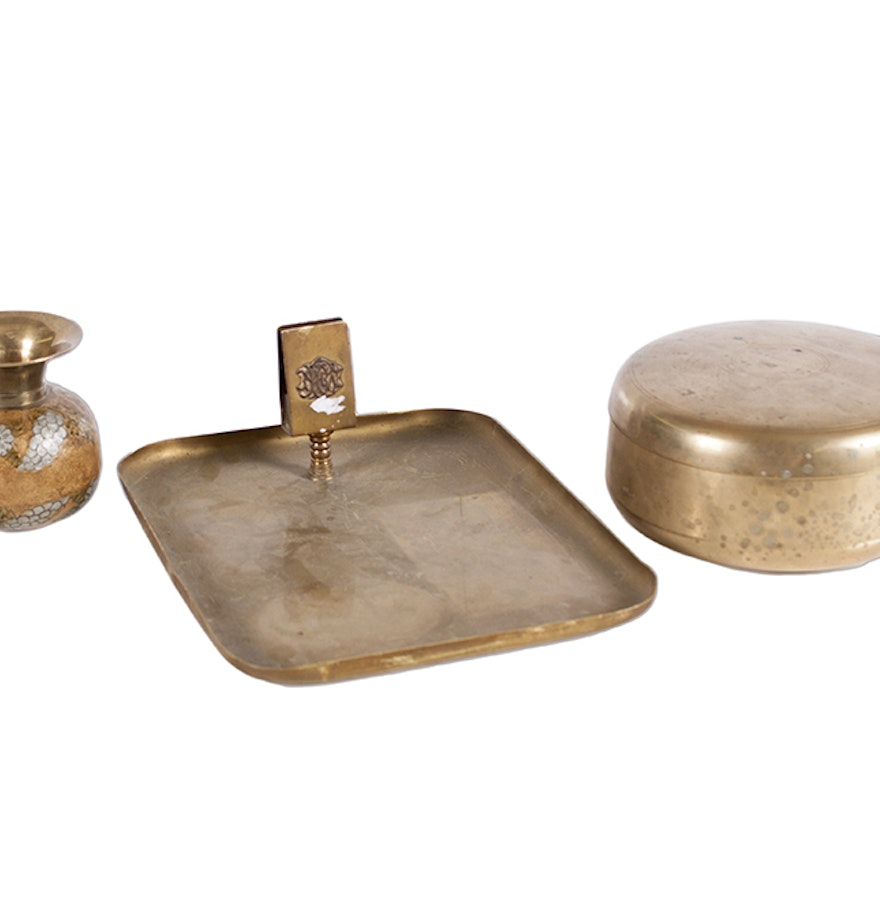 Collection Of Brass Finished Decor Ebth
