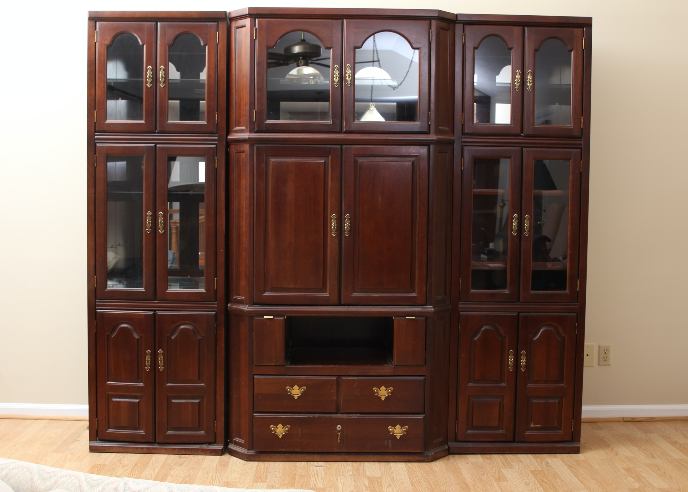 3 piece kitchen cabinets impressive three entertainment cabinet ebth 10177