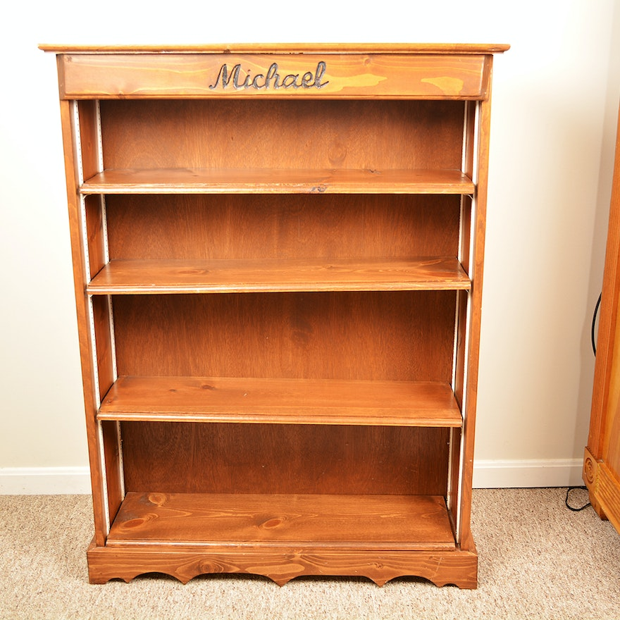 Knotty Pine Bookcase EBTH