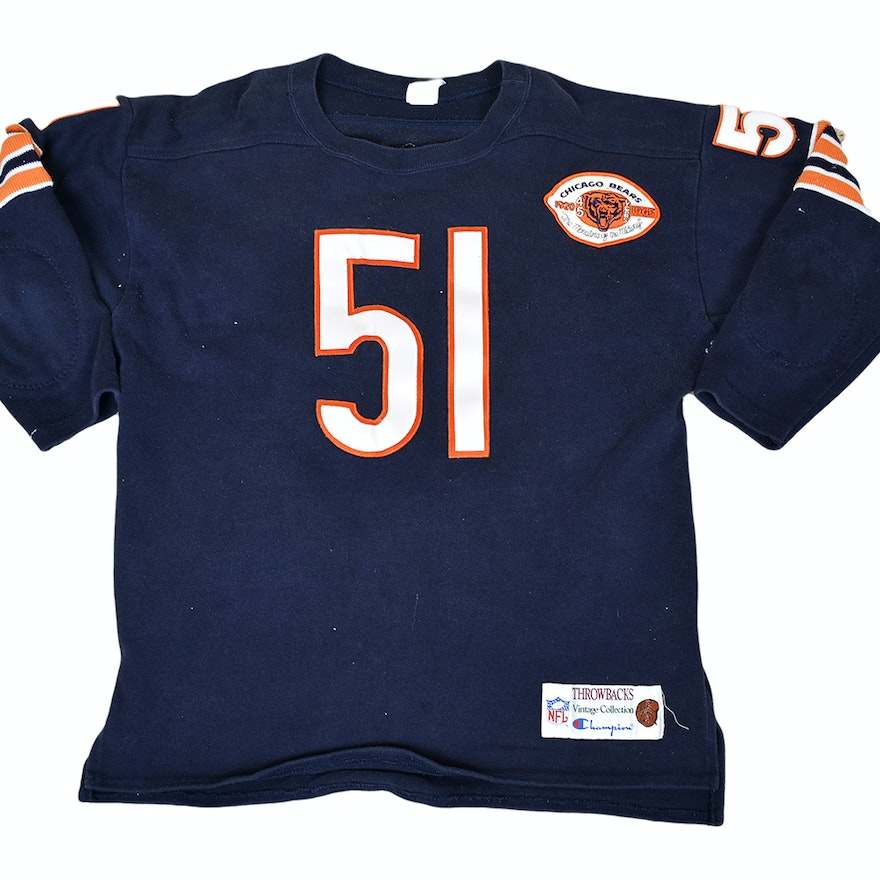 finest selection ef925 1f276 Pair of Chicago Bears Throwback Jerseys