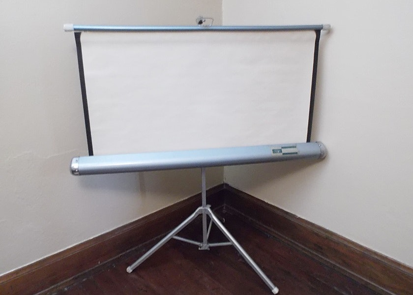 vintage amc 40x40 portable projection projector screen