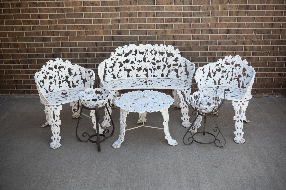 white iron garden furniture. unique garden victorian cast iron garden furniture  with white