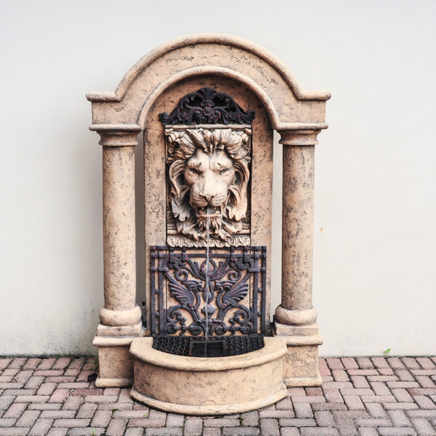 Outdoor Freestanding Lion Head Fountain