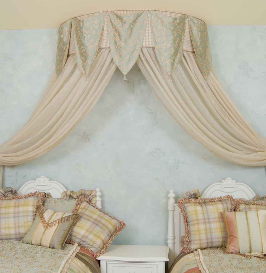 Custom wall mounted bed canopy ebth custom wall mounted bed canopy amipublicfo Image collections