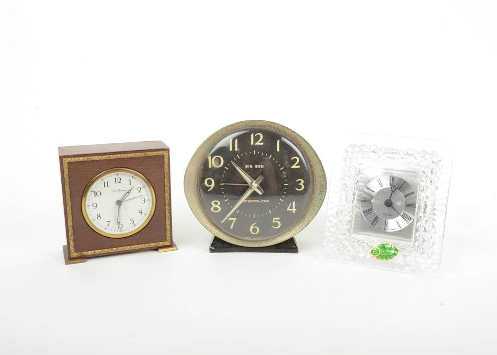 Trio Of Tabletop Clocks ...