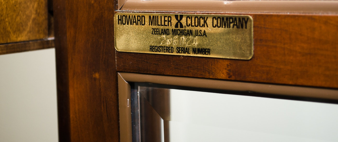 howard miller grandfather clock serial number search
