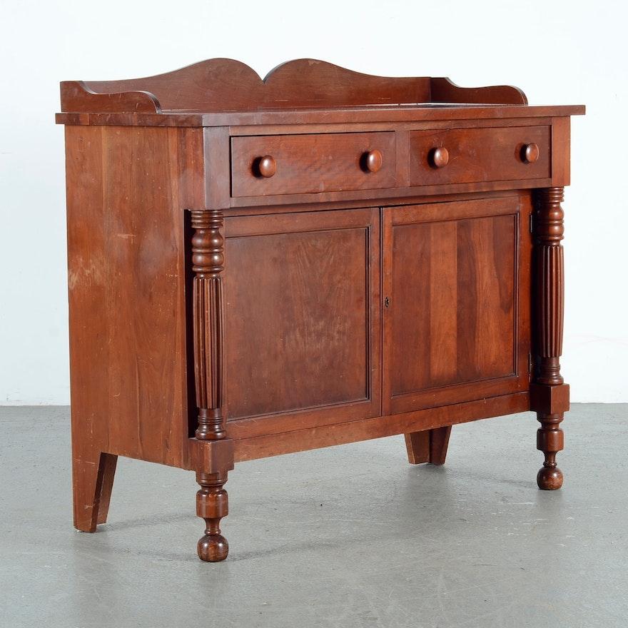 Antique Cherry Buffet Cabinet