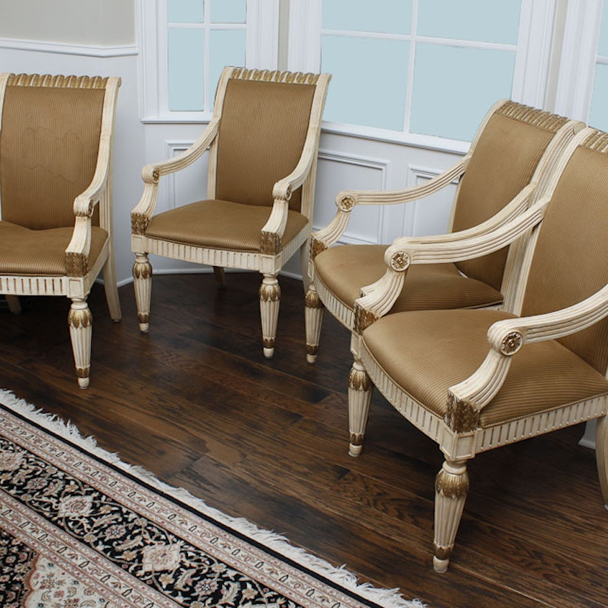Set of Four Dining Armchairs