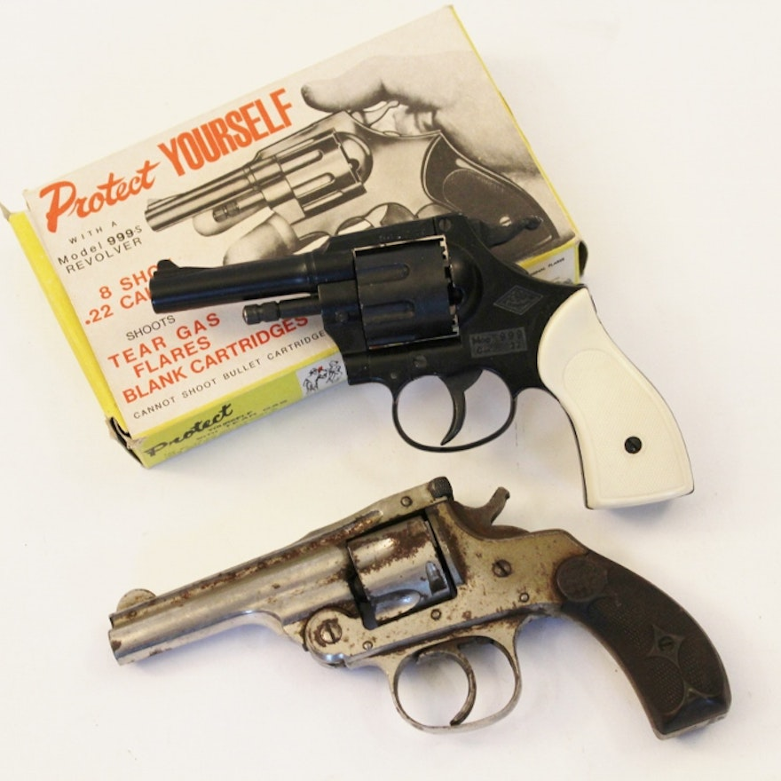 Hopkins and Allen 1887 Revolver and EIG  22 Caliber Blank Gun