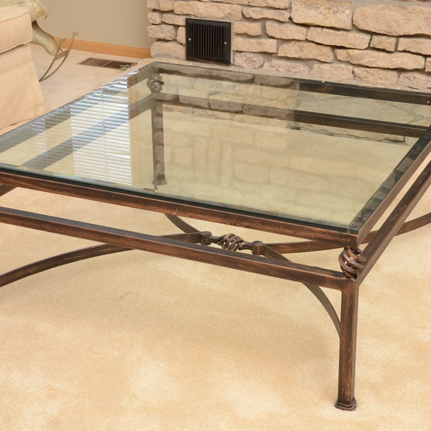 Glass Coffee Tables Gumtree: Cast Iron Coffee Table With Glass Top