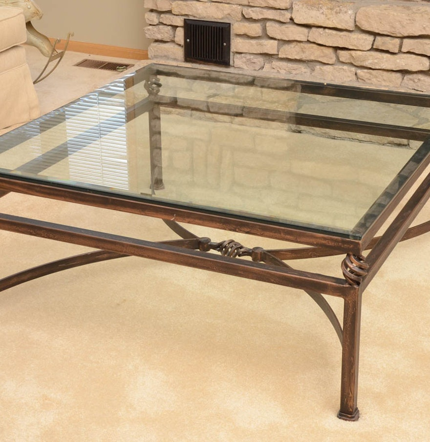Cast Iron Coffee Table With Glass Top Ebth