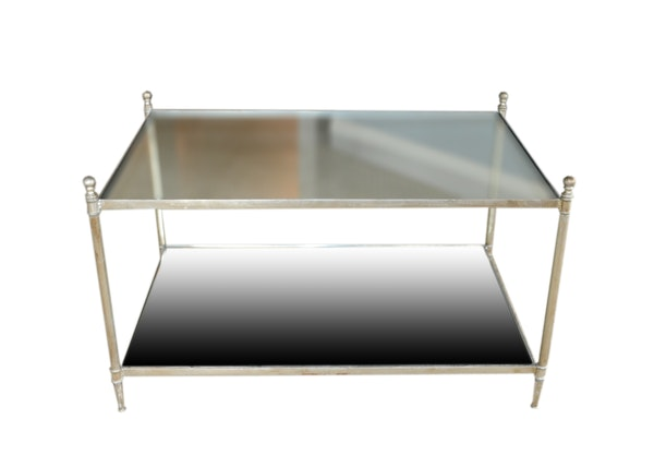Uttermost Glass And Mirror Coffee Table Ebth