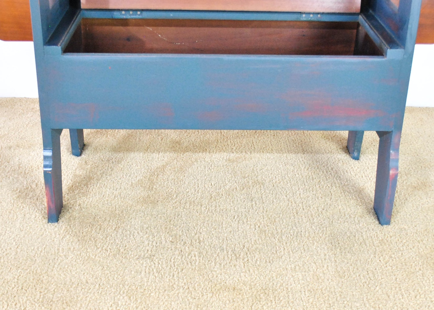 Vintage Flip Top Table Bench Ebth