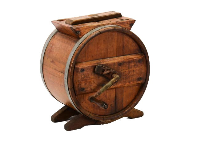 Antiques Collectibles: Antique Round Butter Churn : EBTH