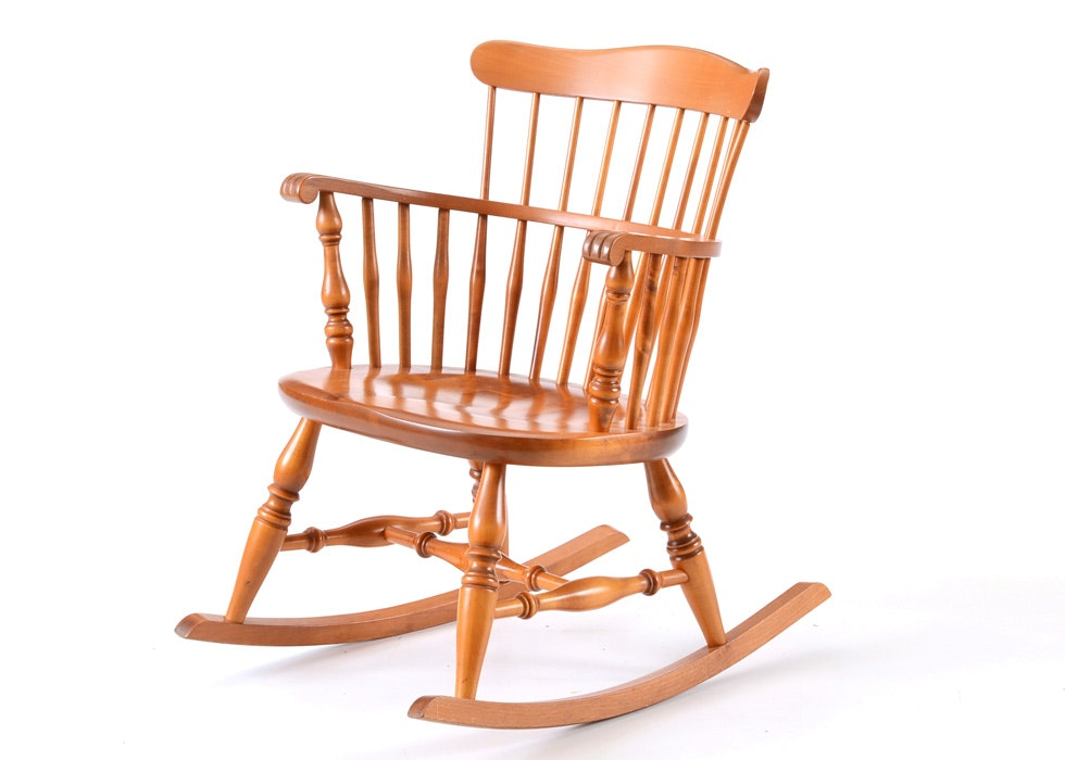Vintage Authentic Furniture Products Windsor Rocking Chair ...