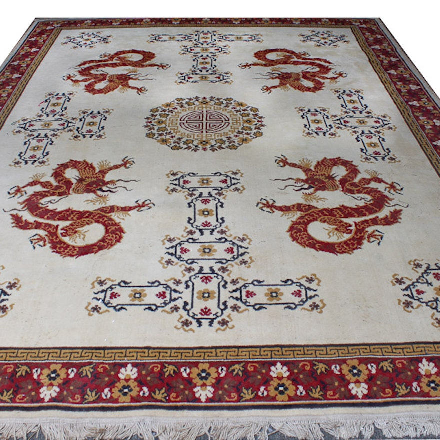 Chinese Style Dragon Area Rug