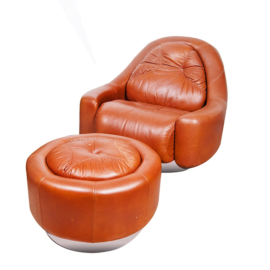 The Pace Collection Quot Zator Quot Chair And Ottoman Ebth