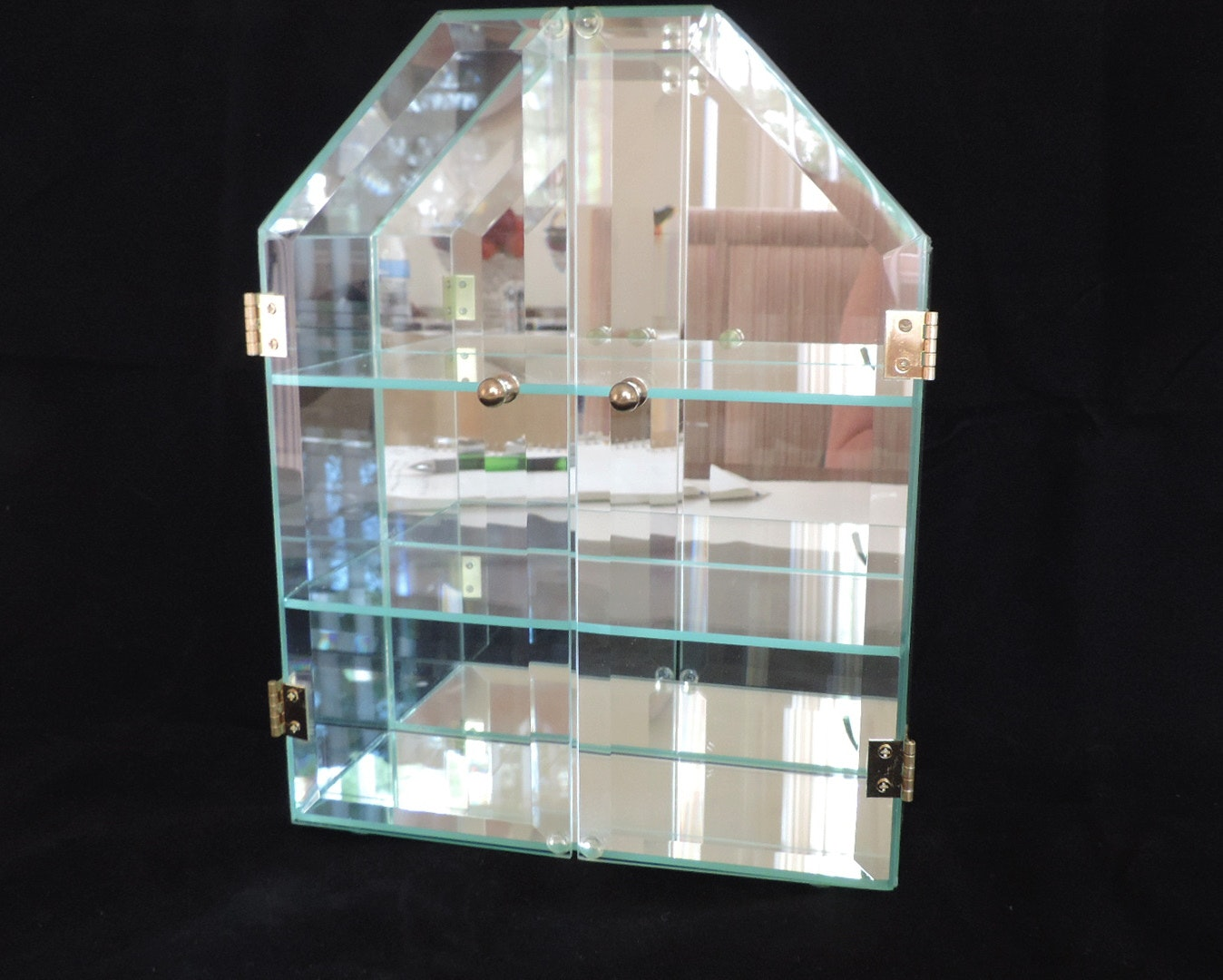 Swarovski Crystal Miniature Figurines And Display Case Ebth