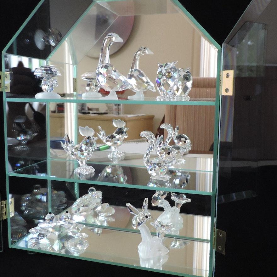 Swarovski Crystal Miniature Figurines And Display Case