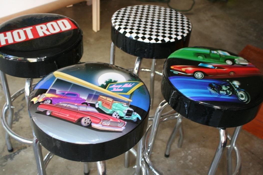 Car Themed Bar Stools EBTH : jerry20last20085JPGixlibrb 11 from ebth.com size 1050 x 700 jpeg 149kB
