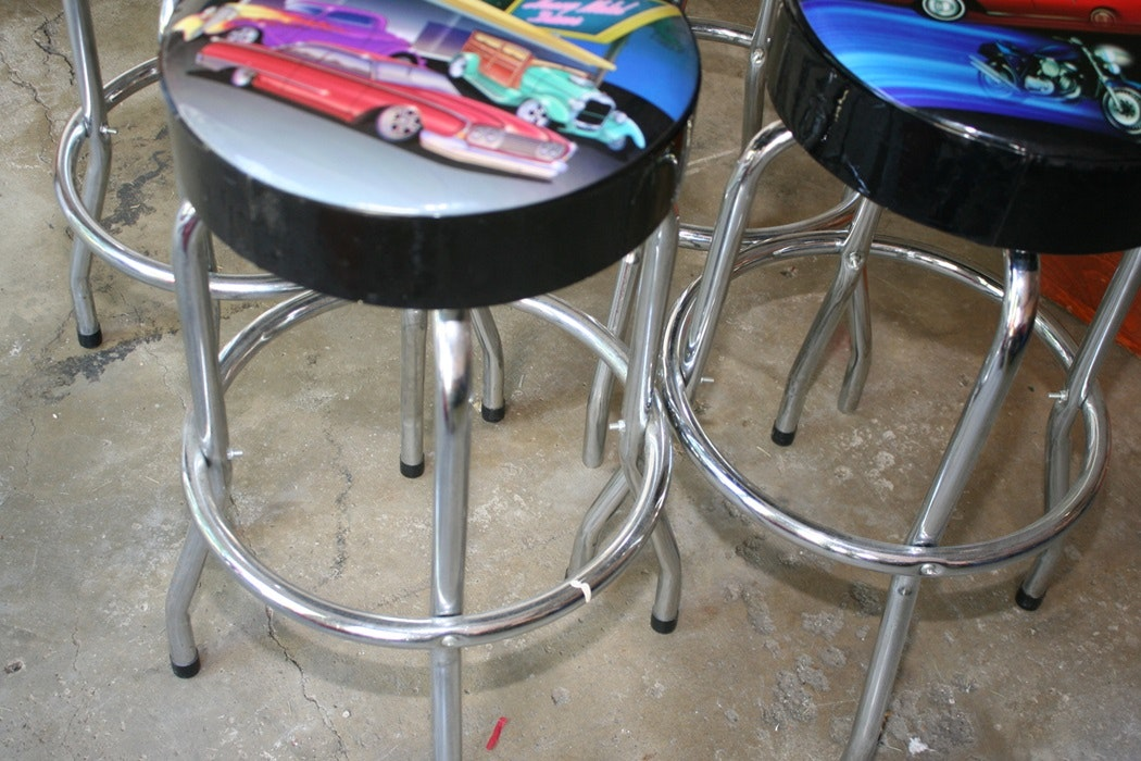 Car Themed Bar Stools Ebth