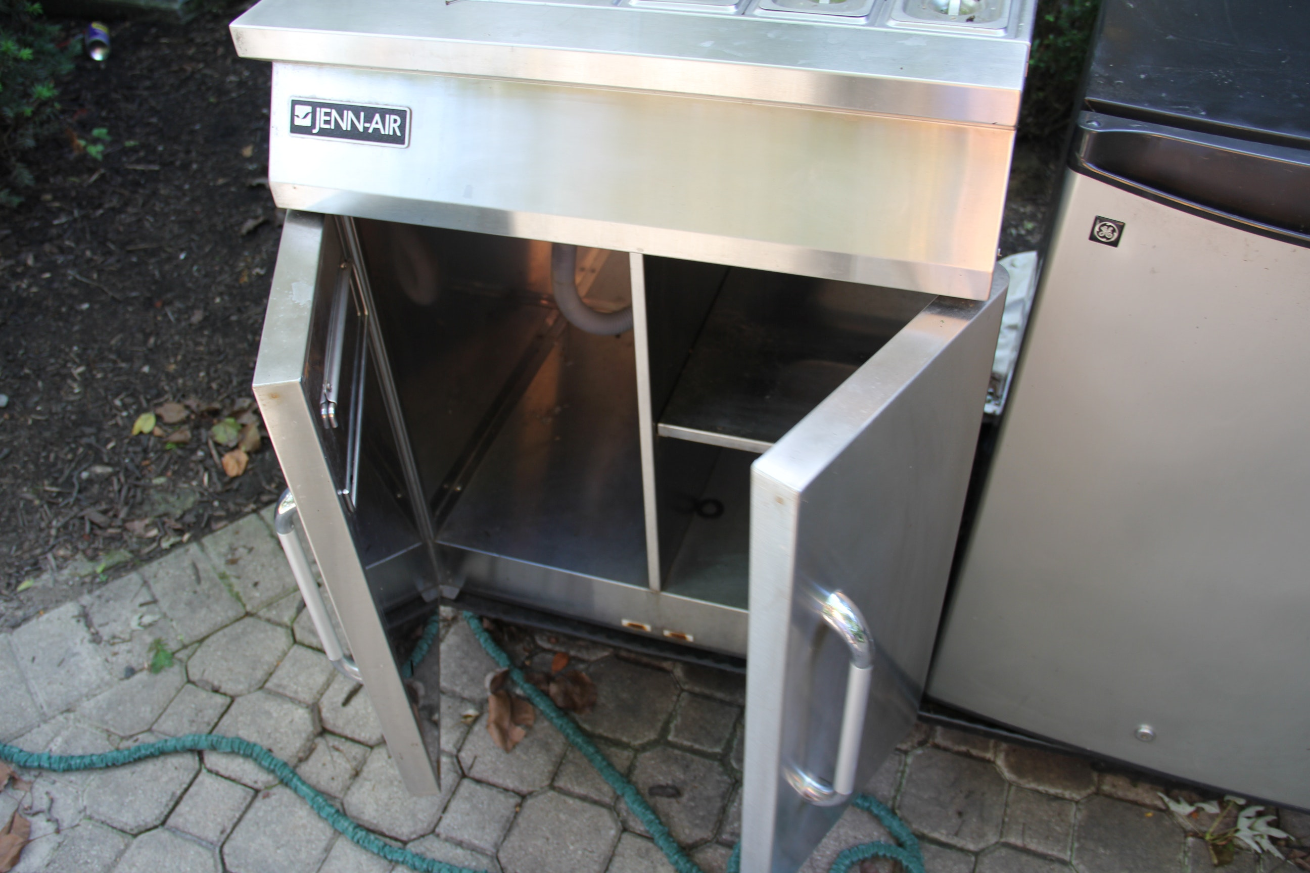 Jenn Air Stainless Steel Sink Cart Ebth