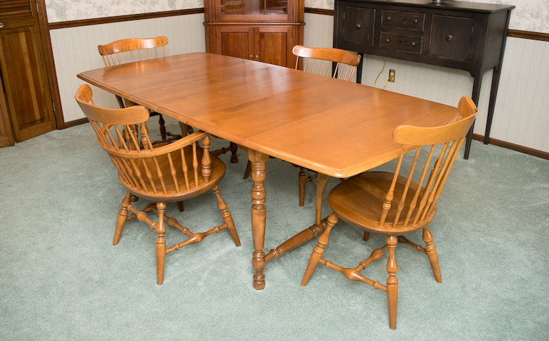Nichols Stone Co Dining Table And Chairs EBTH