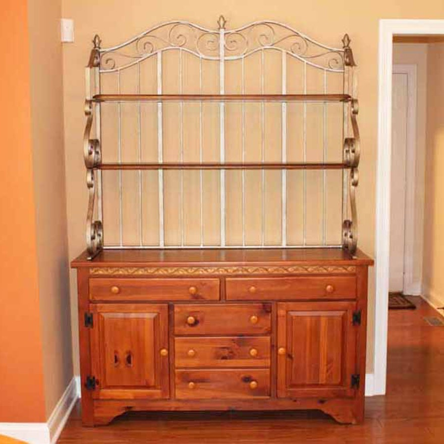 Maple Buffet Shaker Ridge By Kincaid And Wrought Iron Hutch